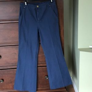 Tory Burch Blue Flared Pants Size 28